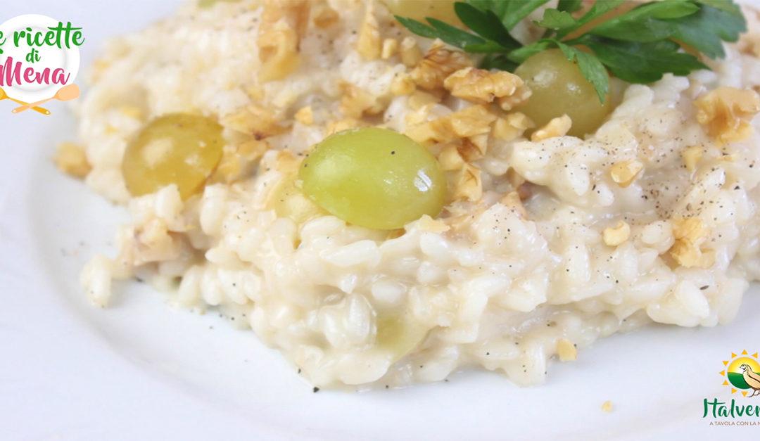 Risotto all'uva bianca mantecato al gorgonzola e noci